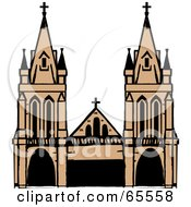 Royalty Free RF Clipart Illustration Of A Majestic Cathedral by Dennis Holmes Designs
