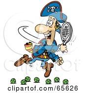 Pirate Guy Playing Tennis - Version 2
