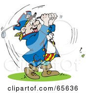 Royalty Free RF Clipart Illustration Of A Pirate Guy Golfing Version 1 by Dennis Holmes Designs