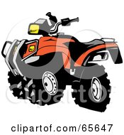 Royalty Free RF Clipart Illustration Of A Black And Orange ATV