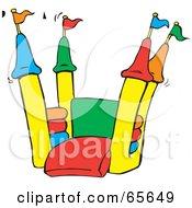 Open Colorful Bounce Castle