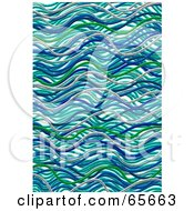 Royalty Free RF Clipart Illustration Of A Background Of Abstract Blue Waves Version 5 by Prawny