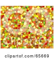 Royalty Free RF Clipart Illustration Of A Background Of Abstract Colorful Pebbles