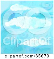 Royalty Free RF Clipart Illustration Of A Background Of Blue Skies Version 3