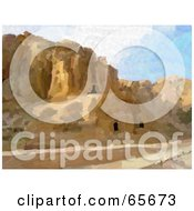 Royalty Free RF Clipart Illustration Of A Background Of Petra Jordan