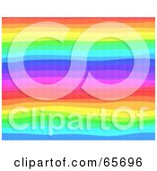 Background Of Rainbow Lines Horizontal