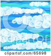 Royalty Free RF Clipart Illustration Of A Background Of Blue Skies Version 2