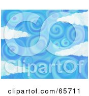 Royalty Free RF Clipart Illustration Of A Background Of Blue Skies Version 4