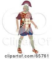 Royalty Free RF Clipart Illustration Of A Walking Centurion Roman Soldier Man by Prawny