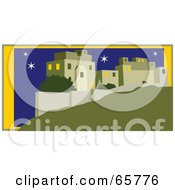 Royalty Free RF Clipart Illustration Of A Starry Night Over Jerusalem