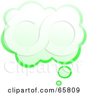 Royalty Free RF Clipart Illustration Of A Cloud Shaped Green Thought Bubble by Prawny