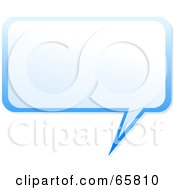 Royalty Free RF Clipart Illustration Of A Squared Blue Speech Bubble by Prawny