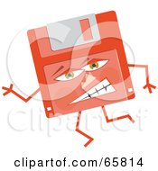 Mad Red Floppy Disc