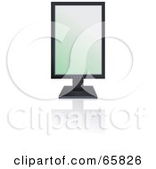 Royalty Free RF Clipart Illustration Of A Black Modern Tilt Computer Monitor With The Screen Sideways