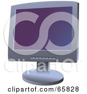 Royalty Free RF Clipart Illustration Of A Gray Computer Screen With A Purple Gradient Screensaver by Prawny