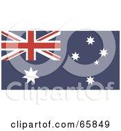 Royalty Free RF Clipart Illustration Of An Australia Flag Background