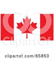 Royalty Free RF Clipart Illustration Of A Canada Flag Background