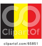 Royalty Free RF Clipart Illustration Of A Belgium Flag Background