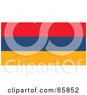 Royalty Free RF Clipart Illustration Of An Armenia Flag Background