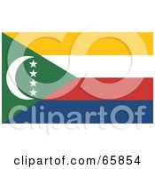 Royalty Free RF Clipart Illustration Of A Comoros Flag Background