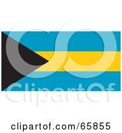 Royalty Free RF Clipart Illustration Of A Bahamas Flag Background