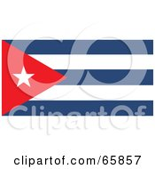Royalty Free RF Clipart Illustration Of A Cuba Flag Background