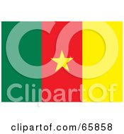 Royalty Free RF Clipart Illustration Of A Cameroon Flag Background