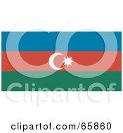 Royalty Free RF Clipart Illustration Of An Azerbaijan Flag Background