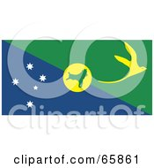 Royalty Free RF Clipart Illustration Of A Christmas Island Flag Background