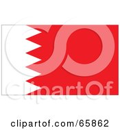 Royalty Free RF Clipart Illustration Of A Bahrain Flag Background
