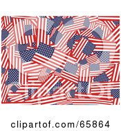 Royalty Free RF Clipart Illustration Of A Collage Background Of American Flags