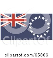 Royalty Free RF Clipart Illustration Of A Cook Islands Flag Background by Prawny