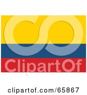 Royalty Free RF Clipart Illustration Of A Colombia Flag Background by Prawny