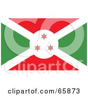 Royalty Free RF Clipart Illustration Of A Burundi Flag Background by Prawny