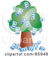 Lush Green Tree Growing Pound Bank Notes