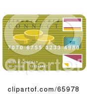 Royalty Free RF Clipart Illustration Of A Green Finance Credit Card Card by Prawny