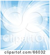 Royalty Free RF Clipart Illustration Of A Blue Snowflake Swirl Background