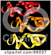 Royalty Free RF Clipart Illustration Of A Digital Collage Of Colorful Confetti Swirls On Black Version 2