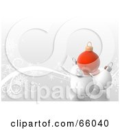 Royalty Free RF Clipart Illustration Of A Soft Swirl Background Of Red And White Christmas Baubles