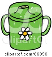 Royalty Free RF Clipart Illustration Of A Green Baby Beaker Cup