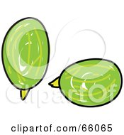 Royalty Free RF Clipart Illustration Of Sketched Gooseberries