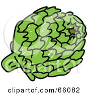 Royalty Free RF Clipart Illustration Of A Round Globe Artichoke by Prawny
