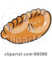 Royalty Free RF Clipart Illustration Of A Sketched Pasty