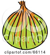 Royalty Free RF Clipart Illustration Of A Sketched Yellow Onion