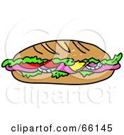 Sketched Submarine Sandwich