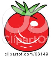 Royalty Free RF Clipart Illustration Of A Sketched Red Tomato