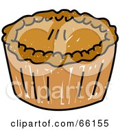 Royalty Free RF Clipart Illustration Of A Sketched Pie With Golden Crust