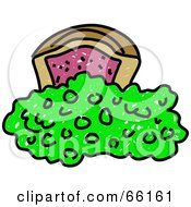 Royalty Free RF Clipart Illustration Of Sketched Pie And Peas