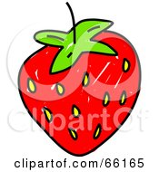 Royalty Free RF Clipart Illustration Of A Sketched Strawberry by Prawny