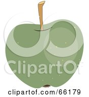 Royalty Free RF Clipart Illustration Of A Shiny Speckled Green Apple